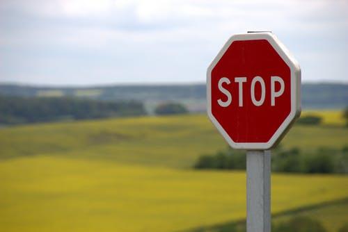 Stop bord